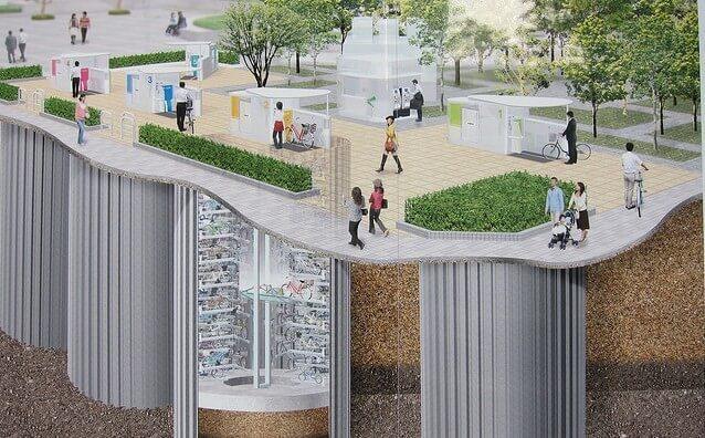 Bisikletler İçin Yeraltı Akıllı Park Sistemi