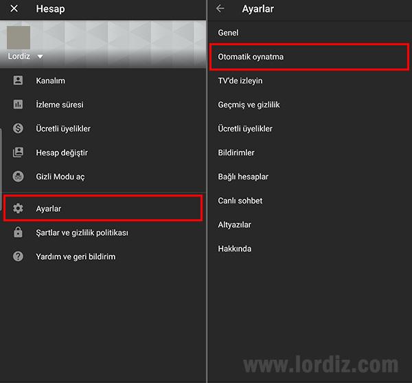 Youtube Uygulamasında Otomatik Oynatma Özelliğini Kapatma - cep-telefonu-teknoloji-haber, internet-siteleri