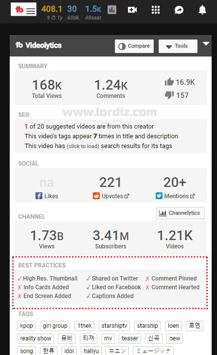 TubeBuddy ve vidIQ Vision ile Detaylı Youtube İstatistikleri ve Öneriler - internet-siteleri