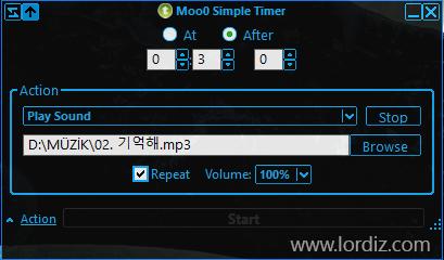 """Ücretsiz Zaman Programlı Aksiyon Yazılımı """"Moo0 Simple Timer"""""""
