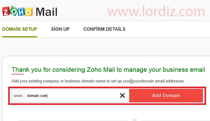"""zoho1 zps94e5e63b - Alan Adı Destekli Ücretsiz Mail Hizmeti """"Zoho Mail"""""""